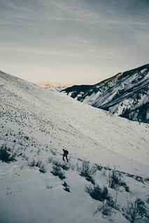 long walk up a snowy hill
