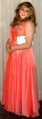 salmon ballgown (Martina H.) Tags: salmon orange dress gown ball party cocktail woman girl elegant evening satin silk