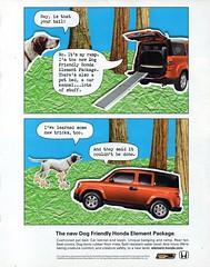 2010 Honda Element Dog Friendly Vehicle USA Original Magazine Advertisement (Darren Marlow) Tags: 1 2 h honda e element d dog f friendly v vehicle a automobile w wagon c car j jap japan japanese 10s