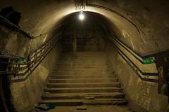 Down The Steps (steve_whitmarsh) Tags: london euston tunnel abandoned derelict station tube underground eustonstation subway