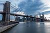 Brooklyn Bridge at dusk (mickdep59) Tags: crépuscule usa poselongue 2017usa oneworldtradecenter natureetpaysages cielmétéo newyorkcity architectureetbatiments newyork batiments nuages panoramique building brooklynbridge clouds dusk longexposure twilight étatsunis us