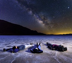 Salt of the Earth (and Sky) (whatdidyouexpect) Tags: astrophotography desert landscape milkyway nature night deathvalley longexposure saltflats badwater people nightsky