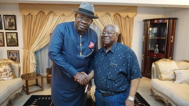 HSDickson Condolence visit to  Chief Bode George Lagos May 2018
