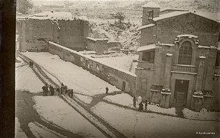 Ascoli com'era: c'è neve in Piazza di Cecco (1929)