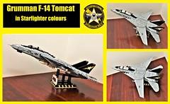 Lego F-14 Tomcat (Lego Admiral) Tags: lego legoadmiral grumman fighter jet f14 topgun tomcat usnavy starfighters