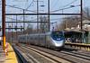 Acela West on Two (Erie Limited) Tags: amtrak northeastcorridor edisonnj station acela passenger train railfan railroad