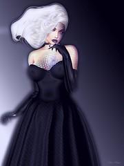 My lost lenore (marduklust resident) Tags: avatar sl secondlife viki ursula mermaind crudelia disney elegance immodest strange white black blue