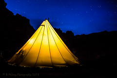 Here's another night shot of our tipi on a recent trip to Utah (Browtine1) Tags: tipi yellow utah blm public land stars blue sky camping mountains canon 5d