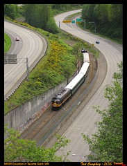 mrsr-tacoma gulch-wa-5-14-2011a (funnelfan) Tags: train railroad railway shortline locomotive pnw pacificnorthwest tacoma washington gulch highway freeway fp7 excursion passenger