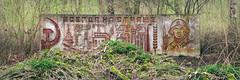 Spring is in the air (Jo Datou) Tags: gssd mural wandbild 3x1 31 panorama abandoned verlassen verfallen ausderregion hugin soviet sowjetisch sowjetarmee sovietarmy redarmy rotearmee