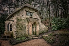 Gothic Cottage (Stephen Reed) Tags: nationaltrust stourhead d7000 nikon lightroomcc hdrefexpro2 england gardens cottage