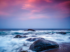 Playtime at Sunset (Deibertography) Tags: landscape sunset nature water eastsea shore coastal rocks beach ocean beautiful tide yangyang scenic southkorea sky seascape waves coast sea clouds