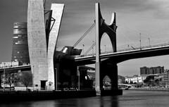 La Salve (Gabo Barreto) Tags: bilbao paisvasco basquecountry bridge nervionriver film 135 35mm canon a1 canonfd selfdeveloped scannedfromfilm filmisnotdead