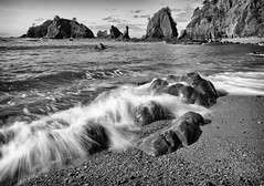 Monuments and nuggets (D. Inscho) Tags: olympiccoast pointofthearches pacificnorthwest coast seastack longexposure neutraldensityfilter washington washingtoncoast