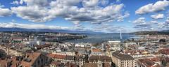 The sky over Geneva (Fil.ippo) Tags: ginevra geneva genf geneve suisse switzerland svizzera cityscape panorama vistadallalto d5000 filippo filippobianchi sky clouds cielo nuvole nikon lago lake