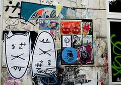 streetart in Hamburg (wojofoto) Tags: hamburg germany deutschland streetart pasteup wojofoto wolfgangjosten bunnybrigade hallokarlo