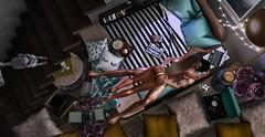 ♚ 527 ♚ (Luxury Dolls) Tags: decor scene home house astralia bed blog blogger uber march 2018 chich trompeloeil ariskea sale cat jian lootbox tableauvivant gacha color mint black white couple pose lagom disorderly cherryhouse rare imagem