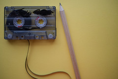 Cassette and pencil (Rushay) Tags: cassette copyspace media music old pencil portelizabeth retro sound southafrica tape vintage yellow