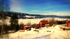 The view (evakongshavn) Tags: winter winterwonderland winterlandscape landscape landschaft paysage red white blue light redhouse redcottage redrules hivernal hiver