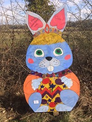 """Easter Bunny. (Bennydorm) Tags: decorative enjoyable friendly appealing cheerful funny fun bright iphone5s march inghilterra inglaterra angleterre europe uk gb britain england cumbria furness ulverston towpath colourful colours """"easterbunny"""" rabbit bunny easter"""