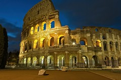 Colosseum - Rome (Alan Amati) Tags: amati alanamati europe earlymorning early earlylight blue bluehour italy italia rome roma colosseum light city urban travel landmark ruin morning predawn ancient eternal mighty solid strong