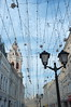 DSCF4179 (Mike Pechyonkin) Tags: 2018 moscow москва sky небо cloud облако house дом streetlight фонарь street улица church церковь fairy lights гирлянда