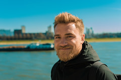 Ronnie (Abenteuer_Analog) Tags: ifttt 500px motorboat recreational boat river punting man male portrait beard sunshine cologne rhine smile