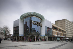 Capitol Centre (Roger.C) Tags: cardiff centre capital capitolcentre city shops shopping retail reflections mirrors shoppingmall mall queenstreet highstreet street streetphotography architecture 1990s nikon wales walesnikon d610 tamron 2470 southwales wfc cymru lovesthediff igerscardiff cardiff247