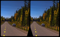 Indian summer on Route 129 in 3-D / (Stereotron) Tags: north america canada province ontario forest woods outback backcountry wilderness indiansummer autumn fall crosseye crossview xview pair freeview sidebyside sbs kreuzblick 3d 3dphoto 3dstereo 3rddimension spatial stereo stereo3d stereophoto stereophotography stereoscopic stereoscopy stereotron threedimensional stereoview stereophotomaker stereophotograph 3dpicture 3dimage twin canon eos 550d yongnuo radio transmitter remote control synchron kitlens 1855mm tonemapping hdr hdri raw