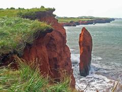 Mr. Lonely (emerge13) Tags: îlesdelamadeleinequébec falaises rocks sand textures landscape rochers cliffs wilderness easterncanada maritimes coast ocean seascape