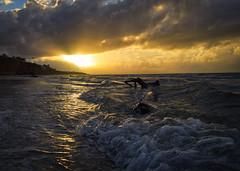 morning glory (gnarlydog) Tags: australia queensland beach sunrise clouds dramatic waves water sea lowangle dynamic contrejour backlit warmlight foreshore nature seascape foam