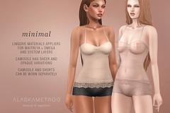 "alaskametro<3 ""Minimal"" camisole/briefs for on9 (Alaska Metro) Tags: alaskametro on9 appliers applier maitreya omega lingerie underwear camisole secondlife basic fashion"