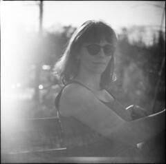 v (cornaile) Tags: portrait model girl beauty beautiful mediumformat analogphotography analog film 120mm 6x6 backlight tlr yashica yashicad neopan acros expired selfdeveloped love woodstock hippy