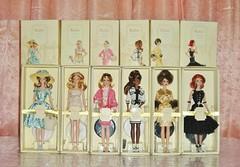 2008 Parisian Sketch Silkstone Collection: Complete Set (Paul BarbieTemptation) Tags: barbie fashion model collection gold label silkstone silkie robert best 2008 paris parisian sketch france french chanel dior balmain givenchy haut monde je ne sais quoi preferably pink toujours couture tout de suite market day