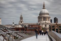 Millennium Bridge and St. Paul's Cathedral (SpokenShutter.com) Tags: st pauls cathedral london millennium bridge stpauls