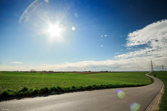 road to the Alps (lichtauf35) Tags: landscape flares blue intothelight wide road sunshine lightroom acdsee