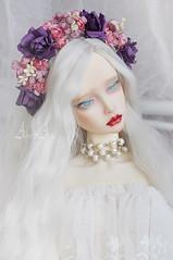 New floral headbands (AyuAna) Tags: bjd ball jointed doll dollfie flower crown headdress wreath sd sd13 sd10 sd16