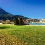 Panorama view of lake Thiersee with Pendling mountain in Austria thumbnail