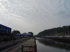 Quilted clouds (Phil Gayton) Tags: building water sky tree boat boatyard cloud river dart totnes devon uk