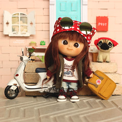 Let's hit the road!!! (Passion for Blythe) Tags: minimuichan muichan ixtee ixdoll tiny cute