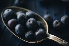 Blueberries (cottage studio images) Tags: food fruit macro blue blueberries spoon