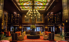 2018 - Mexico City - Hotel Geneve - 2 of 3 (Ted's photos - For Me & You) Tags: 2018 cdmx cityofmexico cropped mexico mexicocity nikon nikond750 nikonfx tedmcgrath tedsphotos tedsphotosmexico vignetting hotel hotellobby hotelgenève mexicocityhotelgeneve seating seats cahirs emptyseats lounge loungechairs chandelier
