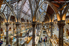 Natural History Museum in Oxford (Holfo) Tags: yellow architecture museum iron castiron nikon d750 hdr people building room animal fantastic majesty arches artefacts cases grand skeletons exhibits interesting placestovisit elevated balcony span glass