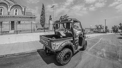 Cyprus April 2018. . . (CWhatPhotos) Tags: cwhatphotos samyang wide fisheye fish eye prime lens building architecture sun skies sky blue beach buggy kymco eastern cyprus car man road 2018 april digital camera pictures picture image images photo photos foto fotos that have which contain olympus penf vehicle drive hire fun open