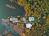 Lake Dzierżno shore (kubaszymik) Tags: dji djimavicpro drone fromabove vertical shore lake river sunset dusk evening april spring gliwice silesia