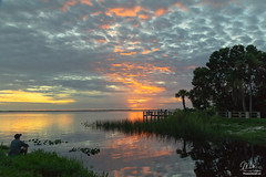 Sunset over Lake Washington (Michael Seeley) Tags: canon fl florida lake lakewashington landscape melbourne mikeseeley shoreline spacecoast sunset