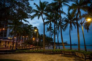 Dawn in Waikiki Beach, O'ahu, Hawai'i, USA