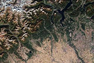 Italian Alps and plains