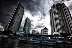 Bangkok river (rvjak) Tags: bangkok thailande thailand southeast asia asie sudest d750 nikon river rivière sky ciel boat bateau