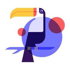 Toucan (kemalsanli) Tags: toucan bird mark icon illustration design minimal